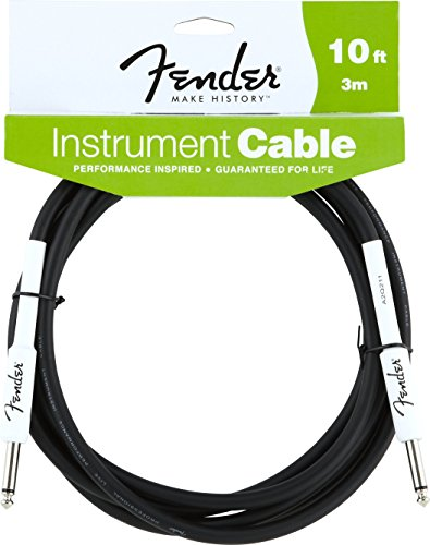 Fender 2D57 - Cable, color negro, 3 m