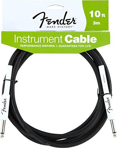 Fender 2D57 - Cable, color negro, 3 m
