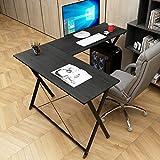 soges Scrivania per Ufficio Computer scrivania angolare Tavolo per Computer, ZJ1-BK-A