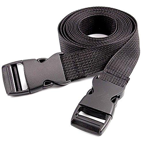 Cosanter Im Freien Wesentliches Breites Haltbares Nylonrucksack Gurtband und Double Side Release Schnallen Clips Riemen 120CM/3,94 Füße -