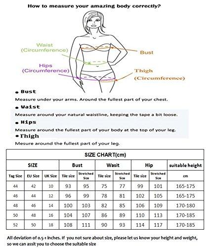 Damen Eleganter Einteilger Badeanzug Einfarbiges Badekleid ohne Bügel Bauchweg Bademode Blau