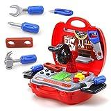 Kinder Spielzeug-Set 19-teilig mit stabilem Koffer für Jungen im Alter von 3 Jahren