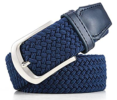 Pegaso Women's Blended Stretchable Belt (Black and Camel_Free Size) - Pack of 2