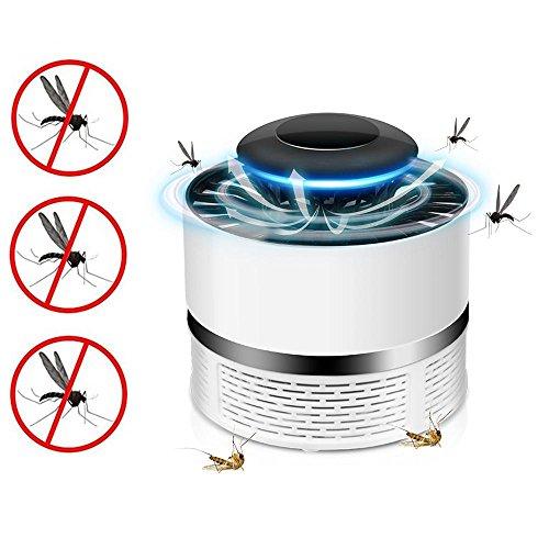 Atrapa Mosquitos Jardin Lampara Fly Bug Zapper led, Mata Mosquitos Eléctrico Interior Mata Insectos con Luz Ultravioleta USB, Sin Productos Químicos (Blanco)