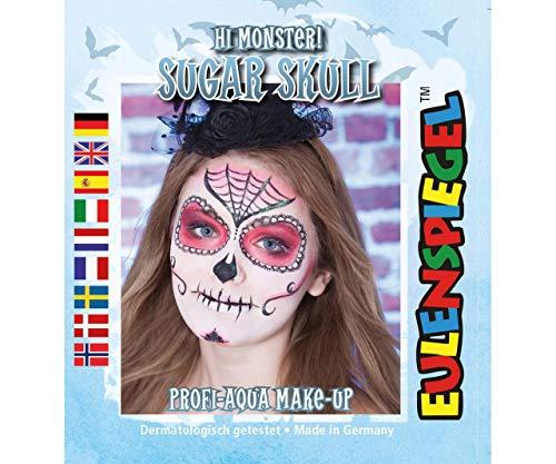 Festlegen Von Farben Für Face - Sweet-Skull -, Eulenspiegel -, EU-204757 (Gesicht Schädel Einfache Malen Halloween)