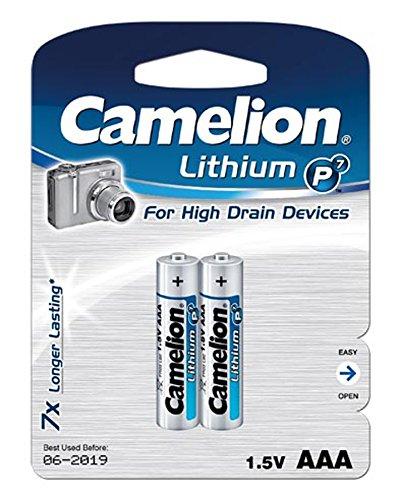Camelion FR03-BP2 Lithium 1050mAh 1.5V rechargeable battery - rechargeable batteries (1050 mAh, Lithium, AAA, 1.5 V, Silver, 2)