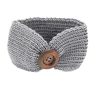 Auxma Baby stricken Baby Kinder Mädchen Taste Haarband Phtography Requisiten (Grau)