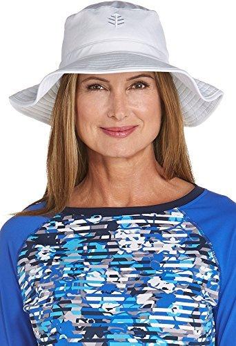 Coolibar Damen UV-Schutz Anglerhut, Weiß, S/M/58CM