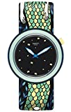 Swatch Damen Digital Quarz Uhr mit Silikon Armband PNN102