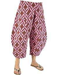 Männer Harem Yoga Hosen Nepal Indien Baumwolle Leinen Yoga Hosen Breite Bein Hippie Hohe Taille Lose Baggy Casual Freizeit Sport Hose GroßEr Ausverkauf Yoga