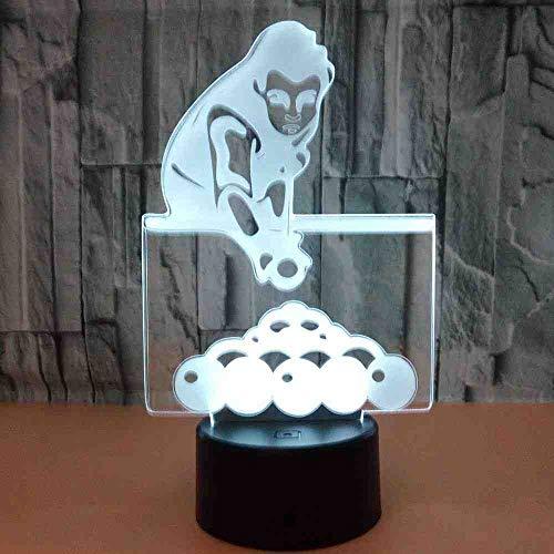 BDDLLM billiards 3D Licht Touch Control Home Geschenke 3D Led Kleine Tischlampe Usb Led Nachtlicht Kinderzimmer Led Kinder Lichter Lampen