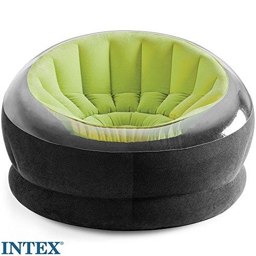 INTEX dubone, verde, flocado asiento, para interior y exterior // Sillón Lounge...