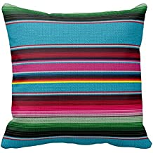 Il messicano coperta copriletto federa per divano casa copertura del cuscino decorativo con cerniera invisibile divano cuscino 18x 18