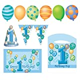 from Unique Party Blue Balloons 1st Birthday High Chair Decorating Kit Model 23967
