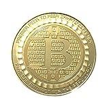 HLHN 1 Pcs überzogene Bitcoin Münze Sammler Geschenk BTC Münze Kunst Sammlung physikalische (Gold)