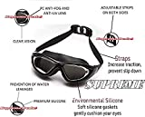 Supreme Designed Professional Adjustable Silicon Swimming Goggle with Pro Clear Lens and Crystal