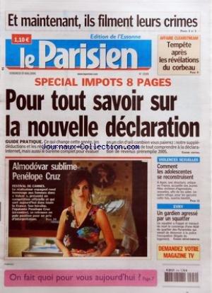 PARISIEN (LE) [No 19189] du 19/05/2006 - ET MAINTE...