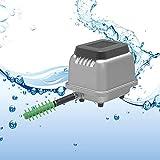 InLoveArts HJB 80 Acquario Serbatoio di Pesci Serbatoio settico Pompa ad Aria a Membrana lineare Soffiante ad Acqua per Acquario e sistemi idroponici con 16 Splitter 80L / min 48W