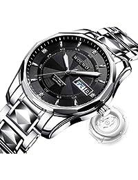 Gskj Reloj de Hombre Completamente automatico Relojes mecanicos Moda Metal Reloj Impermeable Negocio Hombres Luminoso Reloj