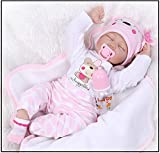 Exing Reborn Neugeborenes Baby Realike Puppe Babypuppen Handgemachtes lebensechtes Silikon