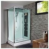 Cabine de douche intégrale rectangulaire 80x120 cm