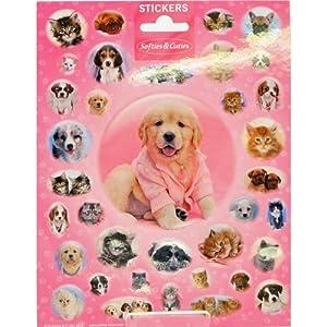 speel Goed 1110106-Papeterie y Pegatinas Stickers Softies Cuties Groot, Multicolor