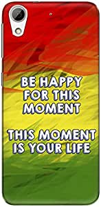 The Racoon Grip printed designer hard back mobile phone case cover for HTC Desire 626. (rasta word)