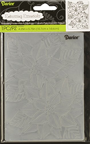 Darice Template Mosaic Poinsettia-Embossing Folder for Scrapbooking and Card Making, Multi-Colour, 10.8 x 14.6 x 0.3 cm