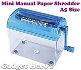 Gadget Hero's Mini Desktop Paper Shredder Machine Manual A5 Size (115mm) Half A4.