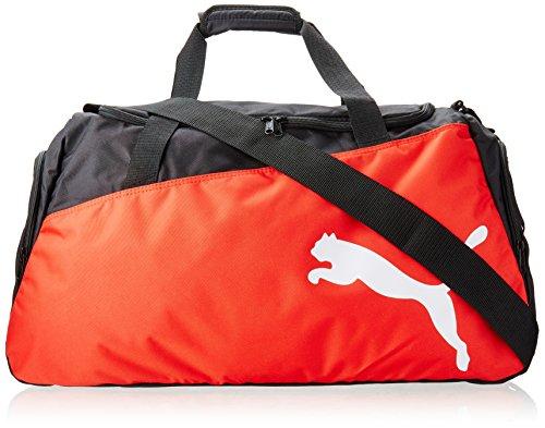 Puma Unisex Sporttasche Pro Training One Size (L 61 x W 31 x H 29 cm) 47 liter, Mehrfarbig (Black/Puma Red/White), 072938 02 (Großes Hauptfach)