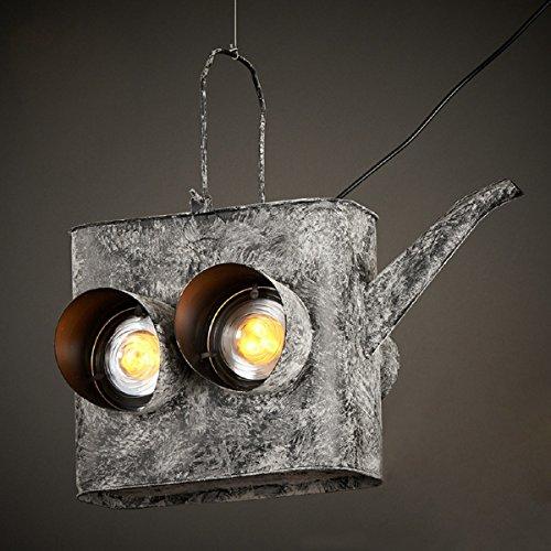 RAING Retro- industrielle Art-Schmiedeeisen-Teekanne-hängende Lichter E27 tun die alte...