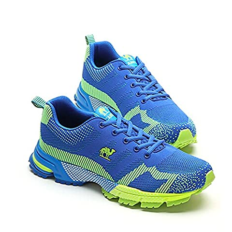 Camel Men's Outdoor Lace-Up Walking Shoes Color Blue/Green Size 40