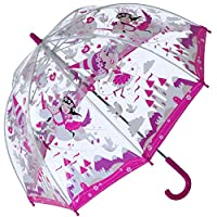 Bugzz PVC Dome Umbrella for Children - Unicorn Wonderland