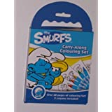 The Smurfs Carry Along 60 Page Book & Crayons Colouring Set