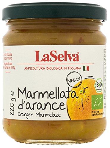 La Selva Bio Orangen Marmelade (Marmellata d`arance), 1er Pack (1 x 220 g)