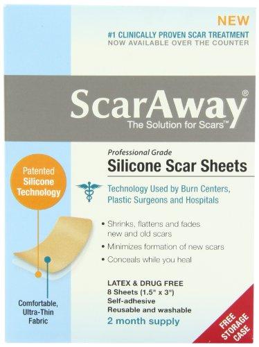 Scaraway Professional Grade Silicone Scar Treatment Sheets / Narbenpflaster für 8 Wochen Anwendung aus USA