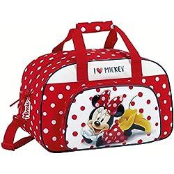 Minnie Mouse Bolsa de deporte infantil, 40 cm, Rojo y Blanco