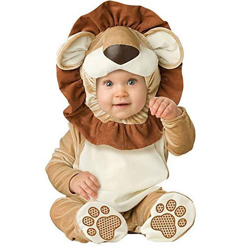 Weibliche Kostüm Feuerwehrmann - DMMDHR Halloween Neue Baby Jungen Mädchen Tier Kostüm Cosplay Weihnachten Halloween Purim Urlaub Geburtstag Party Cosplay Dress Up Outfit, weibliche Lion