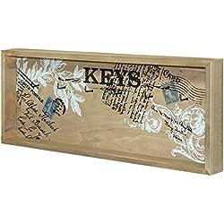 Shabby Chic in legno porta chiavi porta chiavi da muro con ganci