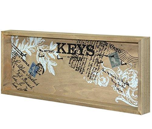 Charming House Design Shabby Chic Holz Schlüssel Rack Schlüssel, Aufbewahrung Haken Wand montiert (Schlüssel Haken Holz)