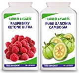 Raspberry Ketone Ultra Pure Garcinia Cambogia Duo by Natural Answers - 1+ Month Supply - Appetite Suppressant Formula - Maximum Strength Fat Burning Diet Pills - Max Quick Weight Loss Supplement - UK Manufactured by Natural Answers