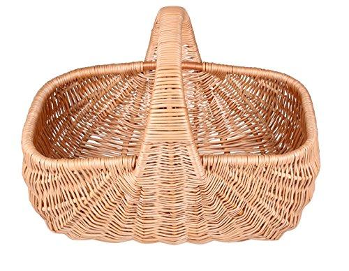 Eleganter und handgeflochtener Einkaufskorb aus 100% natürlicher Weide 31 Liter Fassungsvermögen 30cm x 50xm x36cm (K29)
