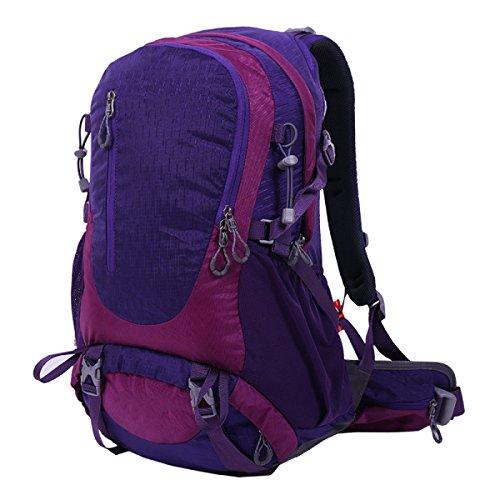 Yy.f38L Ultraleggero Zaino Di Grande Capacità Tracolla All'aperto Viaggiare Acqua Trekking Borse Sportive Escursioni Multiuso Zaino Esterno. Multicolore Purple