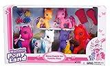 Wonder Pony Land 4 Pony Pferde Puppen 2 Baby Pony mit kämmbarem Haar + Zubehör