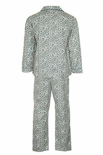Champion Paisley Herren-Pyjama Nachtwäsche, angeraute Baumwolle Grün - Grün