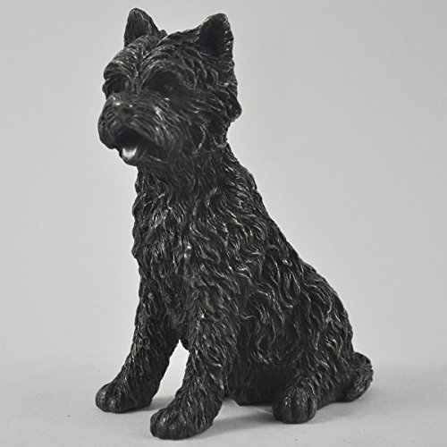 West Highland White Terrier Statua in bronzo grande cane animali domestici idea regalo 14 cm