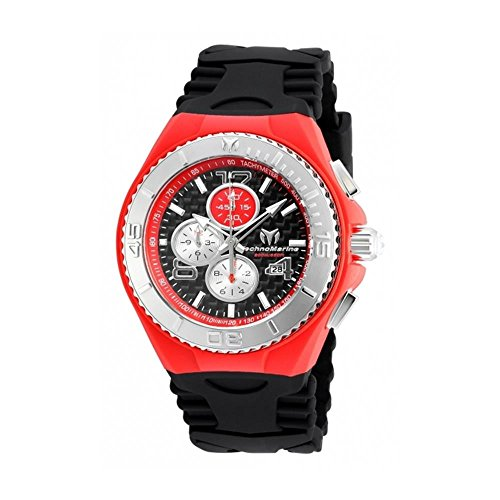 TECHNOMARINE Cruise Homme 46MM Bracelet Silicone Noir Quartz Montre TM-115296