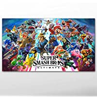 QAZEDC Pintura Decorativa Canvas Posters and Prints Video Game Super Smash Bros. Ultimate Wallpaper Wall Art Paintings for Living Room Decor 60x80cm