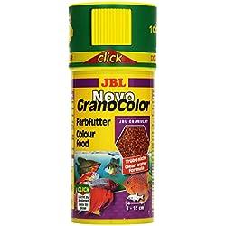 JBL Alleinfutter für große farbenprächtige Aquarienfische, Granulat 250 ml, NovoGranoColor 30104