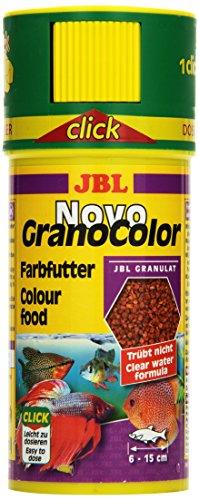 JBL NovoGranoColor 30104 Alleinfutter für große farbenprächtige Aquarienfische, Granulat 250 ml